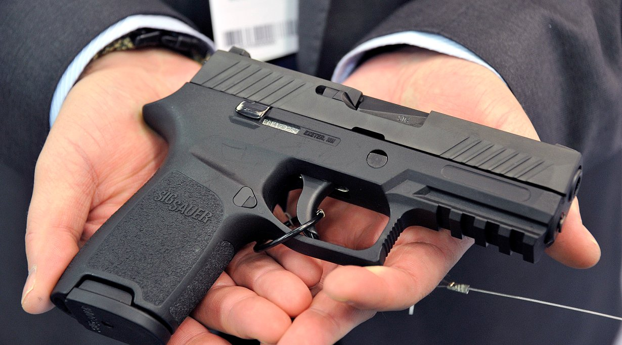 The SIG Sauer P320 pistol at the ENFORCE TAC 2014