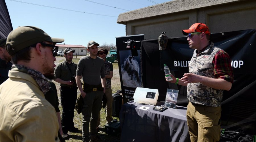 Ballistics workshop with RWS at the Swarovski Hunting Summit 2018.