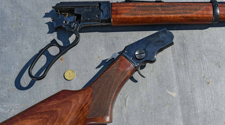 Chiappa LA322 lever action rifle disassembled