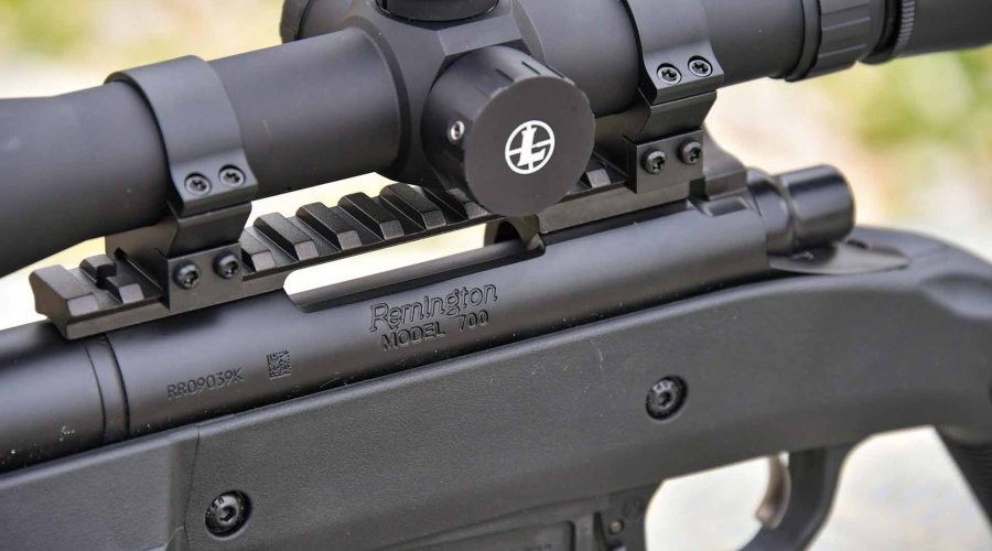 The left side of the action of the Remington 700 Magpul HB